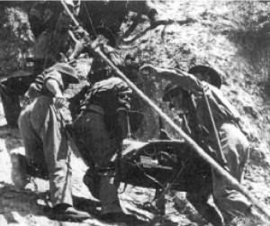 17-funtowe działo przeciwpancerne ważące dwie i pół tony, które polscy żołnierze częściowo rozebrali i wciągnęli ręcznie na wzgórze 324, skąd był bezpośredni ostrzał na klasztor.