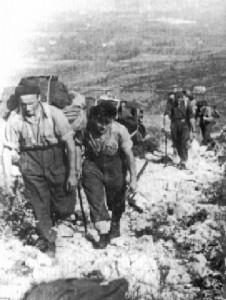 Specjalnie dobrani żołnierze, silni fizycznie, byli nosicielami żywności na pozycje wyjściowe.