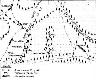 Przebijanie się 25 pp AK przez szosę Końskie – Kielce (8 listopada 1944 r.)