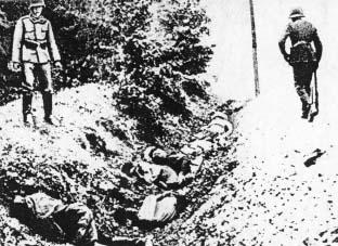 Jeńcy polscy zamordowani przez oddziały Wehrmachtu pod Ciepielewem