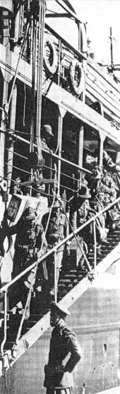 Transport włoskich oddziałów inwazyjnych przez Adriatyk do Albanii z włoskiego portu Bari do albańskich portów VLOR i DURRES (w pobliżu Tirany).