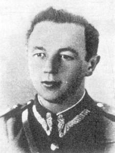 """Por. """"Huragan"""" (Kazimierz Aleksandrowicz). Dowódca oddziału partyzanckiego Obwodu Kozienice."""
