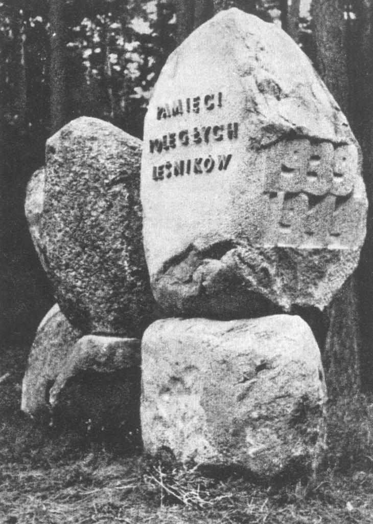 Pomnik wzniesiony w Zwierzyńcu dla uczczenia pamięci poległych leśników.