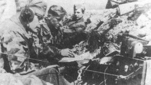 """Punkt łączności batalionu karnego SS w operacji """"Skok Konika Szachowego"""""""